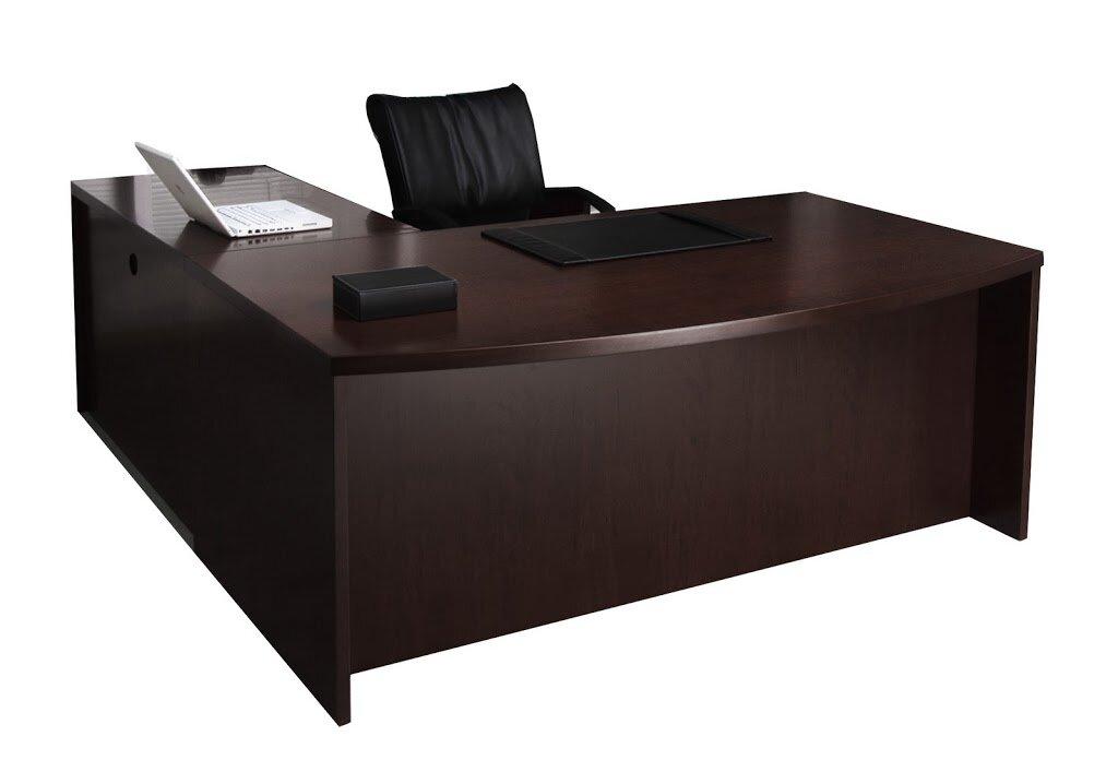 mayline mira series l shape executive desk reviews wayfair. Black Bedroom Furniture Sets. Home Design Ideas