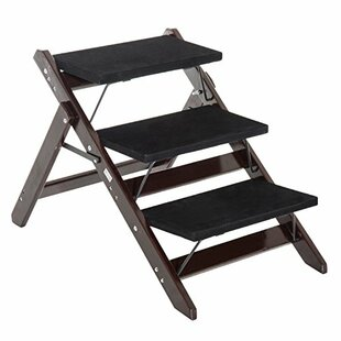 Fuente 2 In 1 Portable Folding 3 Step Pet Stair