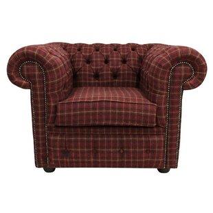Farheen Arnold Wool Tweed Low-Back Chair By Rosalind Wheeler