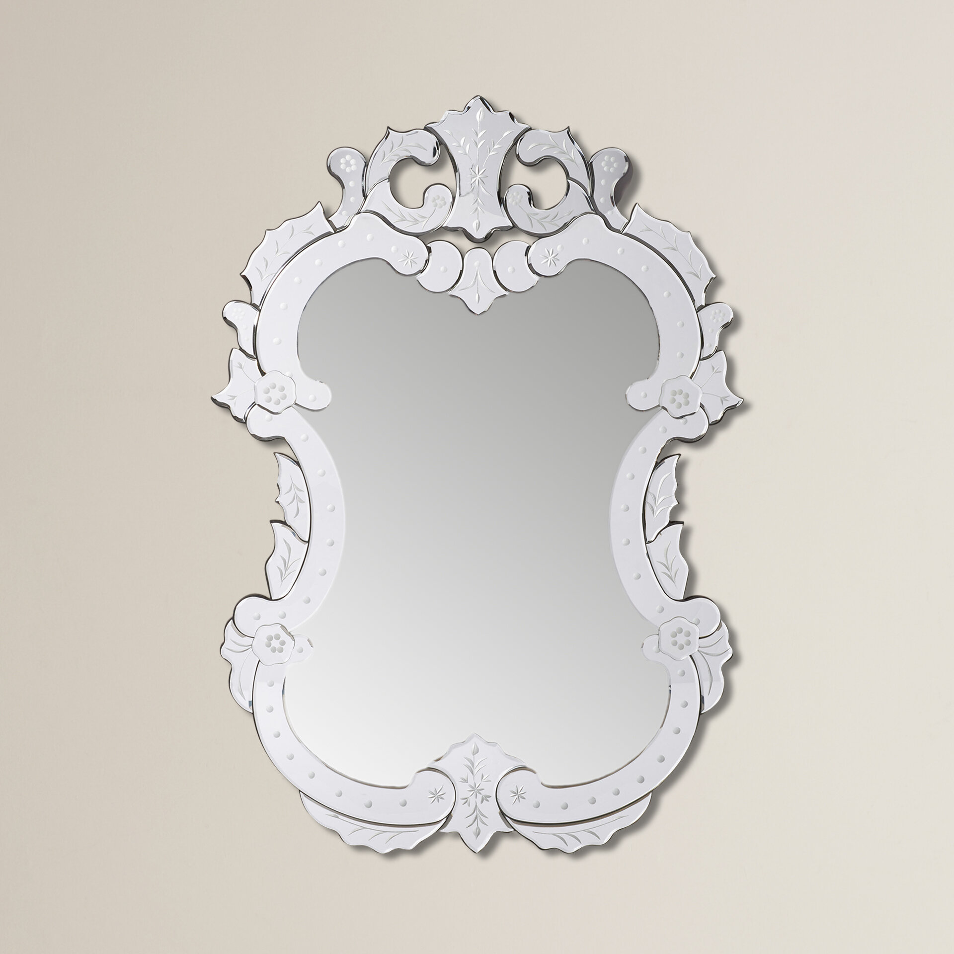 Willa Arlo Interiors Etched Floral Vertical Wall Mirror & Reviews ...
