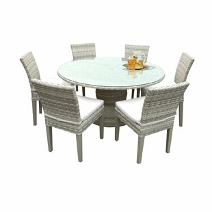 Rosecliff Heights Ansonia 7 Piece Dining Set with Cushions