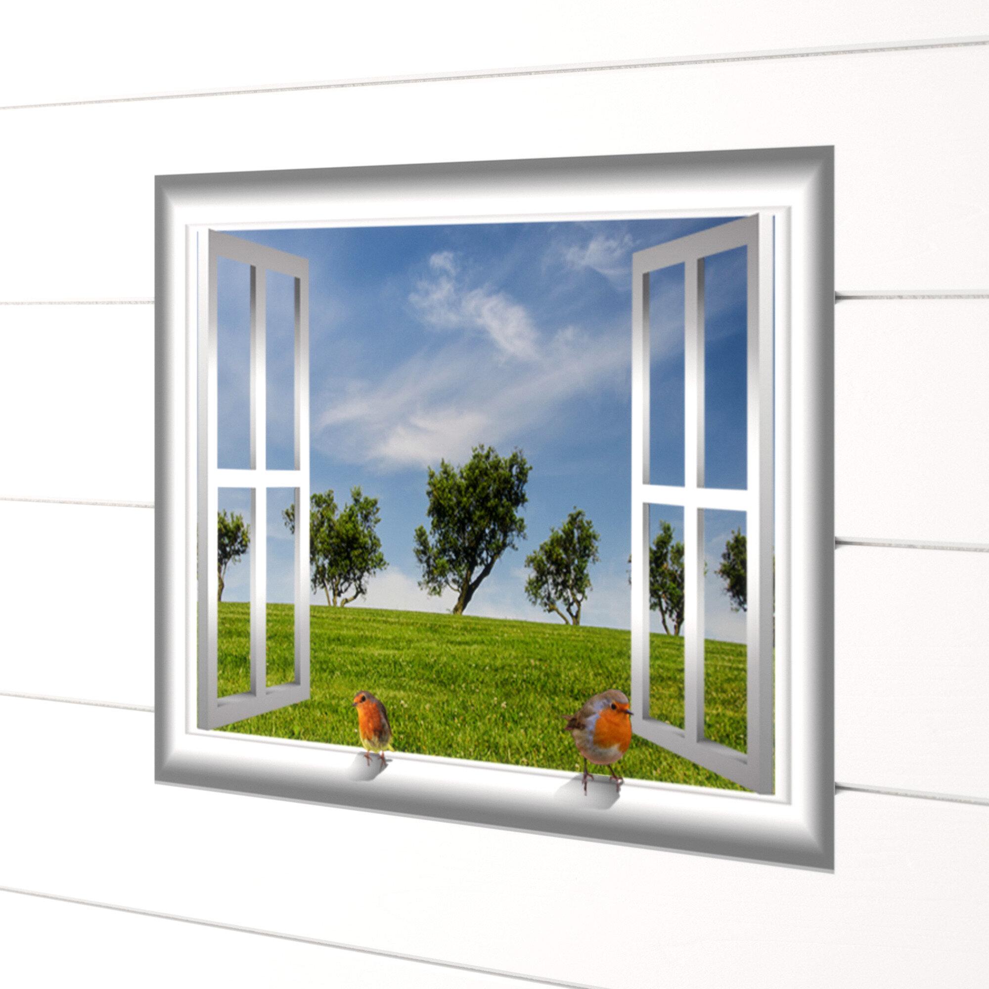 3d Window Wall Decal Window View Wall Mural Desert Wall Decal Nature Wall Decal Desert Window Frame Bedroom Living Room Home Wall Decor