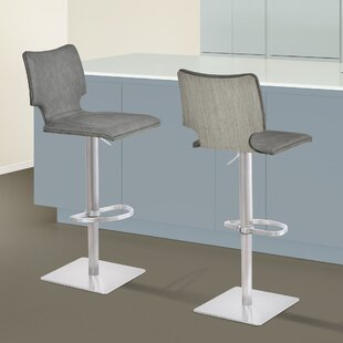 Aldossari Adjustable Height Swivel Bar Stool