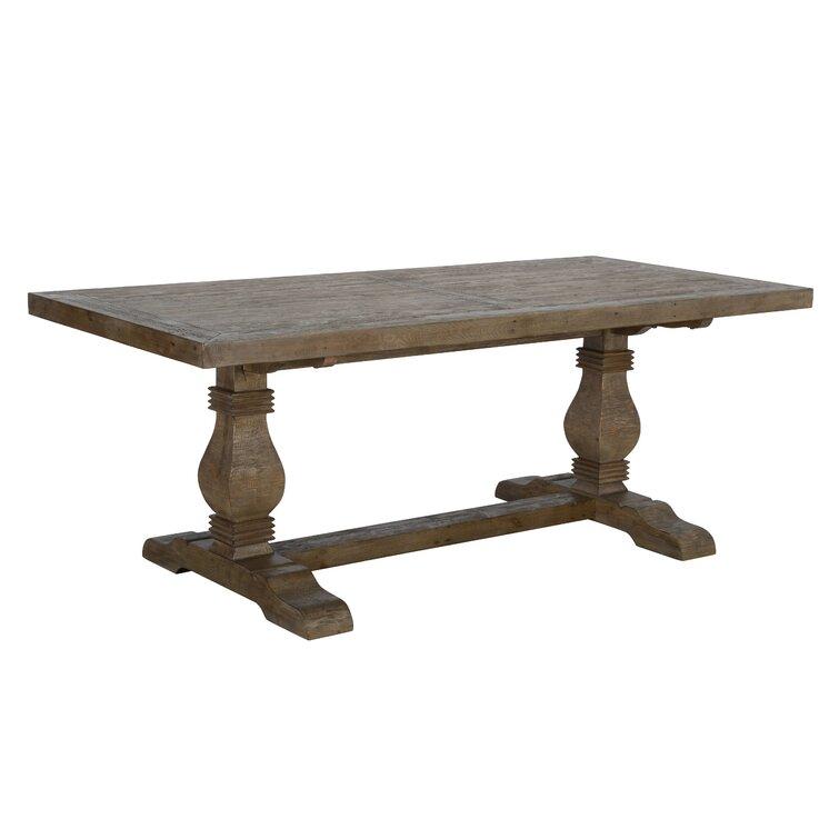 "Kinston 38"" Pine Solid Wood Trestle Dining Table"