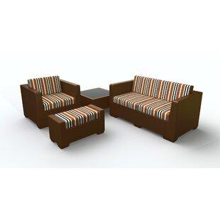 Sturtevant 4 Piece Sofa Set with Cushions