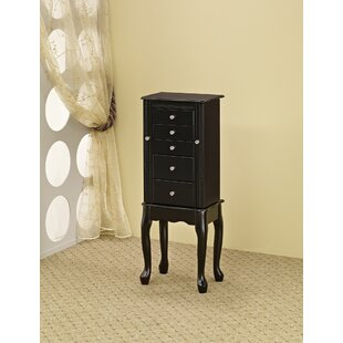 Searching for Plummer Classic Free Standing Jewelry Armoire with Mirror by Canora Grey