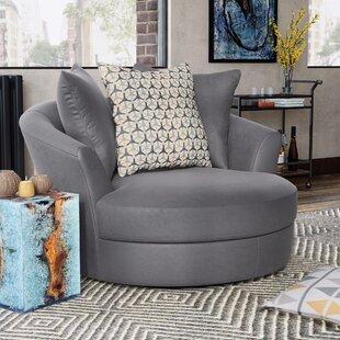 Round Oversized Swivel Chair | Wayfair