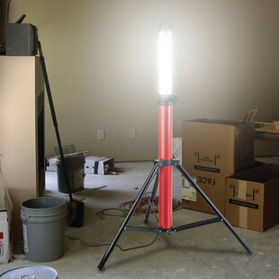 McLoud 360° Boomstick Black/Red Battery Powered LED Outdoor Work Light By Symple Stuff