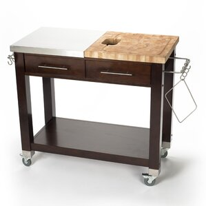 Pro Chef Kitchen Island with Butcher Block Top by Chris & Chris Onsale