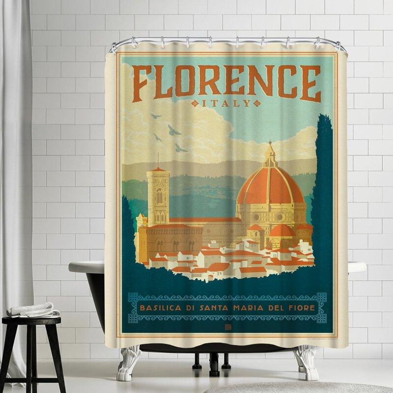 East Urban Home Italy Florence Single Shower Curtain Wayfair