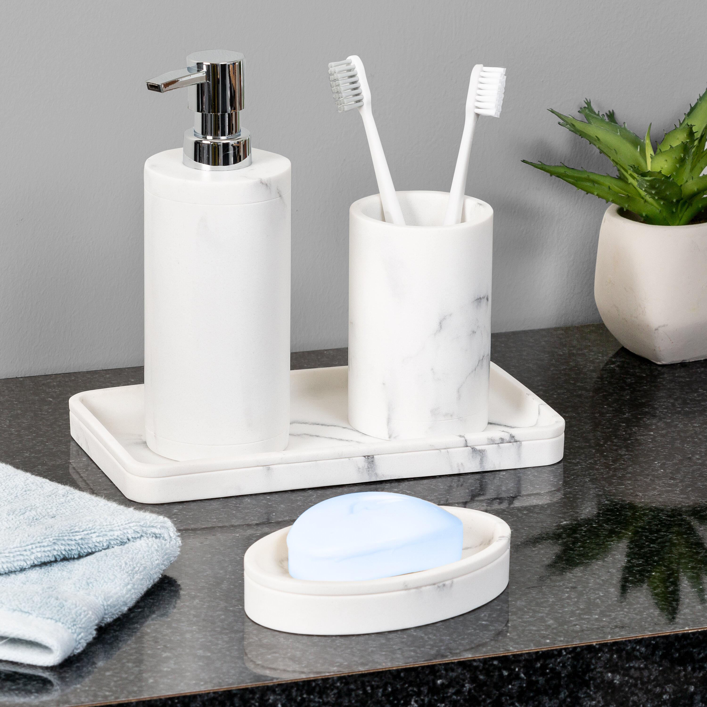 Orren Ellis Amelio 4 Piece Bathroom Accessory Set Reviews Wayfair
