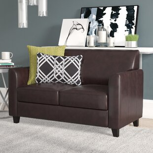 Letcher Diplomat Series Leather Loveseat by Red Barrel Studio