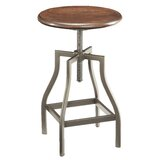 Berger Swivel Adjustable Height Bar Stool by Williston Forge