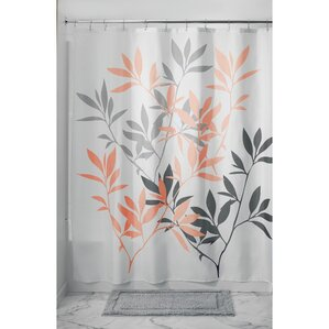 gray and orange shower curtain. Leaves Shower Curtain Orange Curtains You ll Love  Wayfair