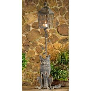 Coupon Hartleton Fox Lantern 1-Light 54.75 Post Light By August Grove