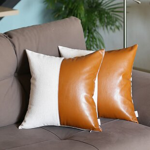 Faux Leather Throw Pillows You Ll Love In 2021 Wayfair Ca