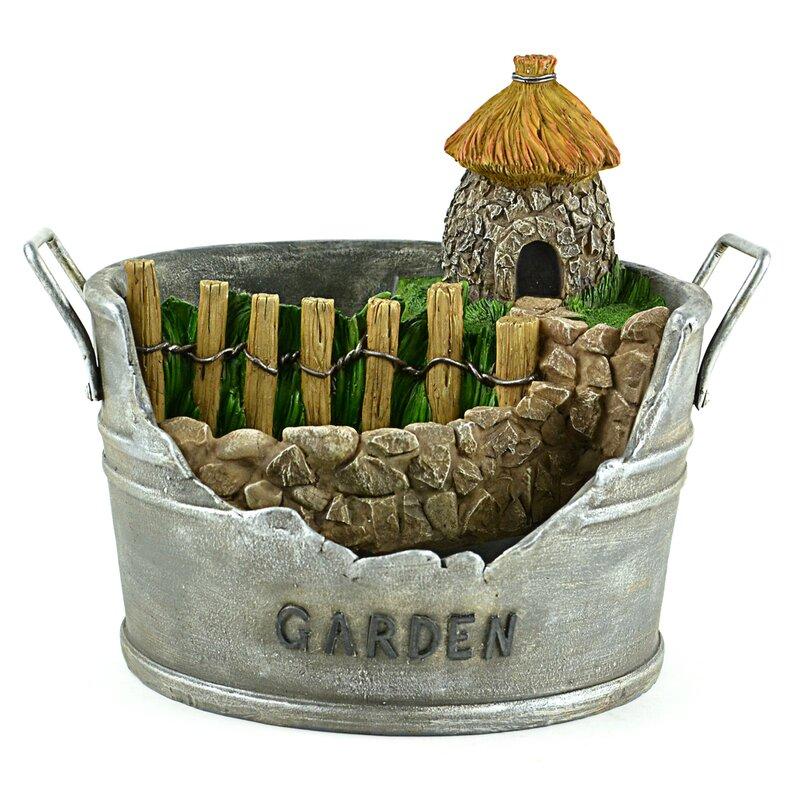 August Grove Wardlaw Hut Pot Fairy Garden | Wayfair