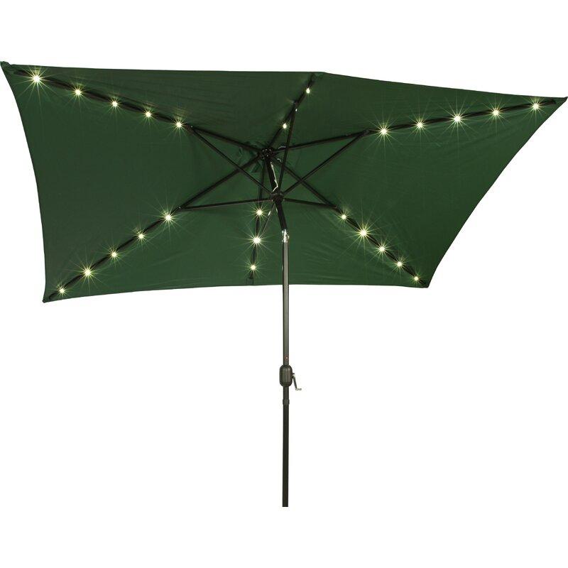 Rectangular Led Umbrella: Bangert 10' X 6.5' Rectangular Lighted Umbrella & Reviews