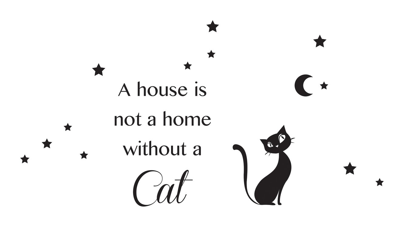 Wallpops home decor line cat silhouette wall decal for How to start a home decor line