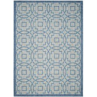 Mcdaniel Hand Tufted Grey/Aqua Blue Indoor/Outdoor Rug By Bloomsbury Market