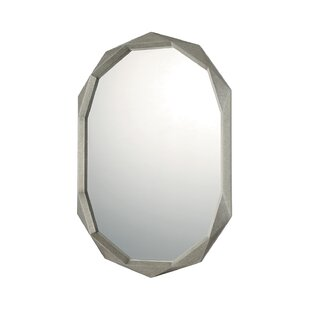 Latitude Run Antique Silver Decorative Accent Wall Mirror