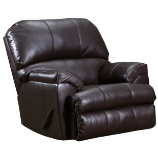 Erim Faux Leather Upholstered Recliner Club Chair