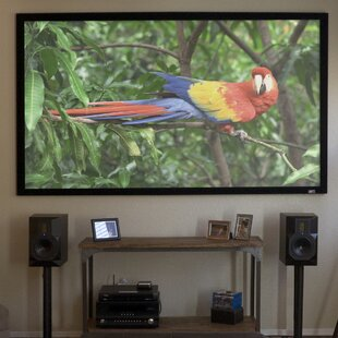 ezFrame Plus Series White Fixed Frame Projection Screen