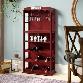 Darby Home Co Belair Phone Booth 15 Bottle Floor Wine