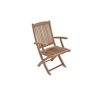 Purvis Folding Teak Patio Dining Chair