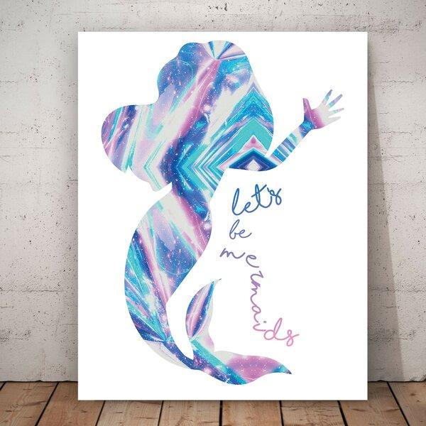 Children Inspire Design Let S Be Mermaids Mermaid Silhouette Personalized Paper Print Wayfair