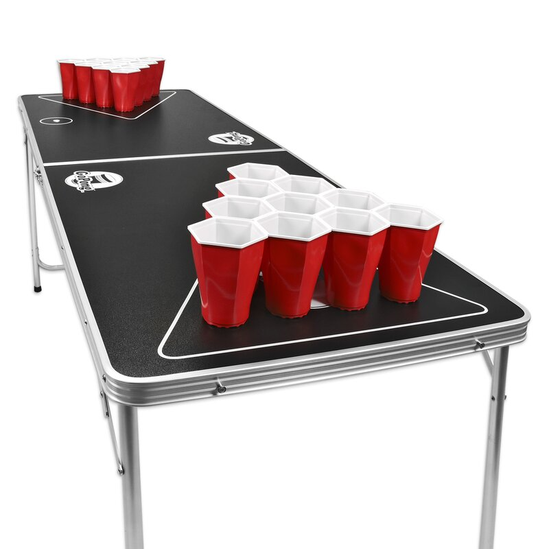 Gopong portable beer pong table reviews wayfair - Professional beer pong table ...