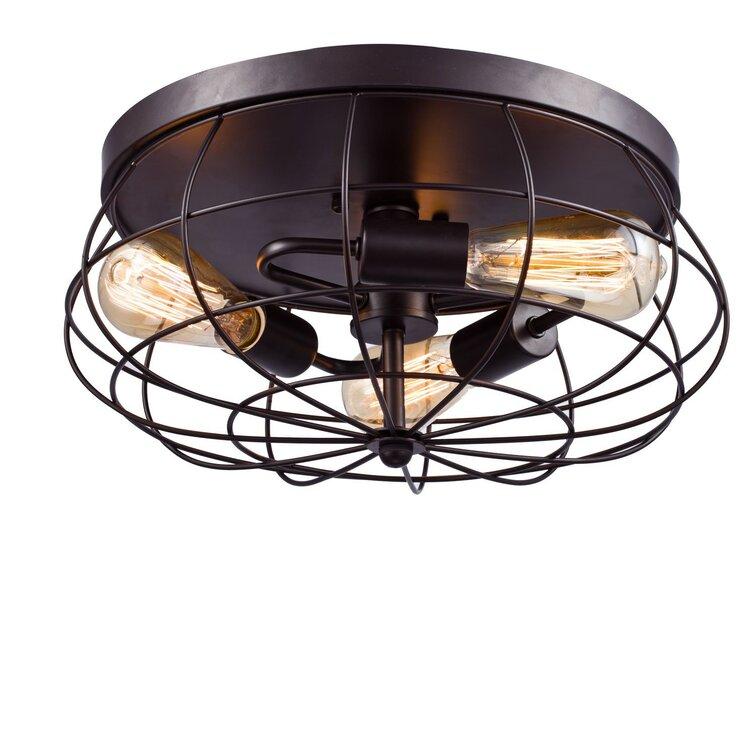 Trent Austin Design Sapinero 3 Light 15 74 Caged Sphere Flush Mount Reviews Wayfair