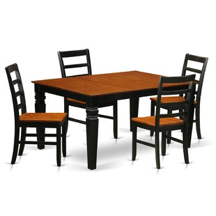 Chalet 5 Piece Dining Set Red Barrel Studio