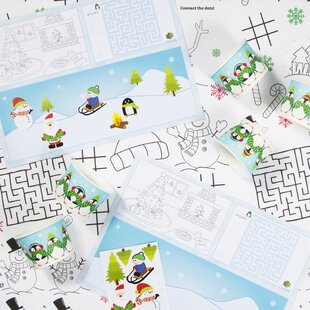 Christmas Kids 21 Piece Paper Activity Kit