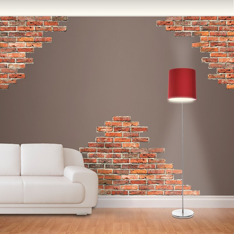 Nice Horizontal Brick Wall Decal