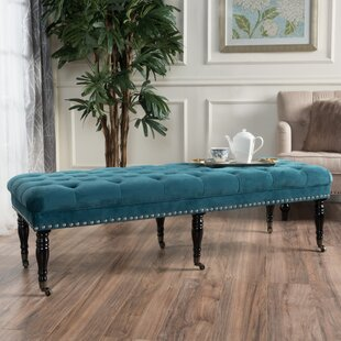 Cline Velvet Upholstered Bench