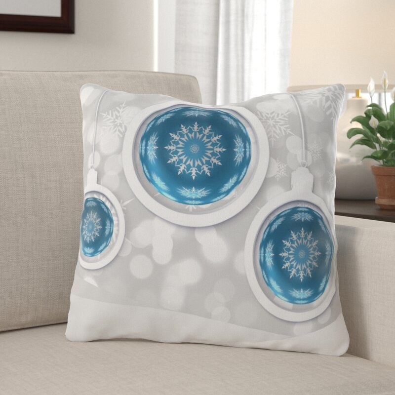 The Holiday Aisle Rawls Christmas Indoor Outdoor Canvas Throw Pillow Wayfair