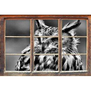 Beautiful Long-Eared Owl Wall Sticker By East Urban Home