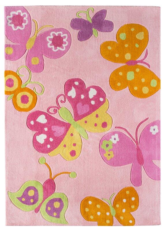 andiamo butterfly pink area rug & reviews | wayfair.co.uk