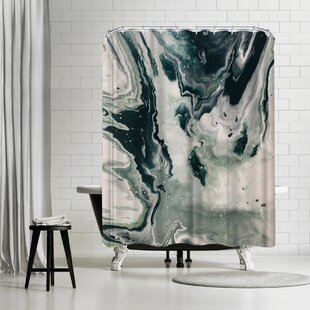 East Urban Home Leah Flores Galaxy Marble Shower Curtain