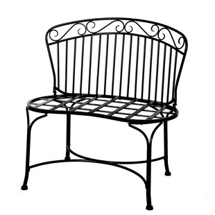 Imperial Steel Garden Bench by Deer Park Ironworks