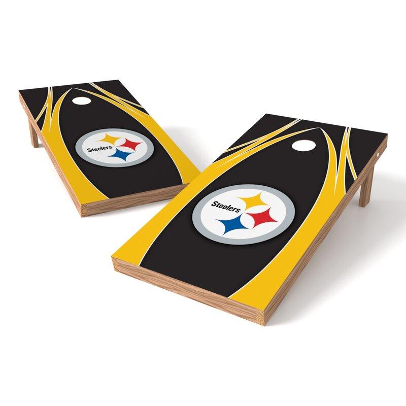 2' x 4' NFL Solid Wood Cornhole Board