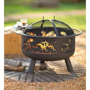Wind & Weather Dragon-Themed Steel Fire Pit