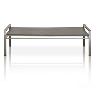 Miguel Rustic Oak Wood Coffee Table by Foundry Select