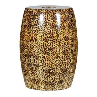 BIDKhome Cheetah Ceramic Stool