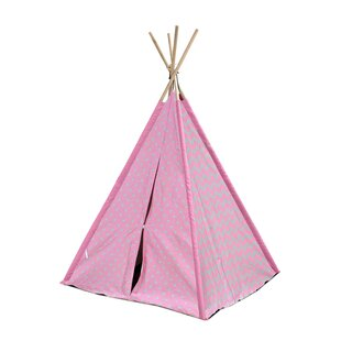 Kadin Chevron & Dots Kid Play Teepee with Carrying Bag