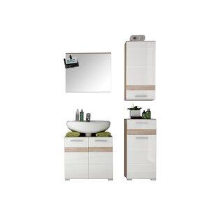 One 3 Piece Bathroom Storage Furniture Set With Mirror By Mercury Row