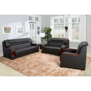 Cahlil Leather 3 Piece Liv..