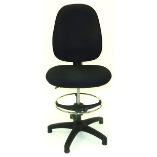 50.5 Upholstered Seat Drafting Chair by Symple Stuff New