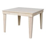 Theodosia Fixed Top Solid Wood Dining Table by Highland Dunes